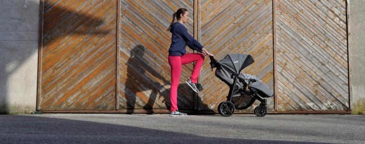 Knie hochziehen Mamis machen Sport