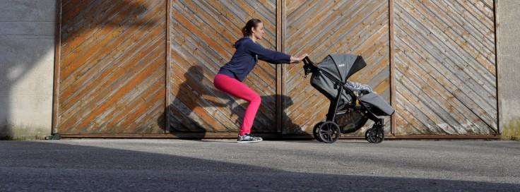 Kniebeugen Mamis machen Sport