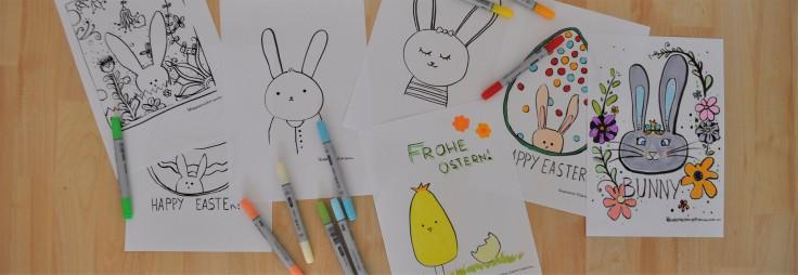 Titelbilder Malvorlagen Ostern