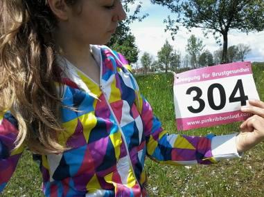 Pink Ribbon Startnummer