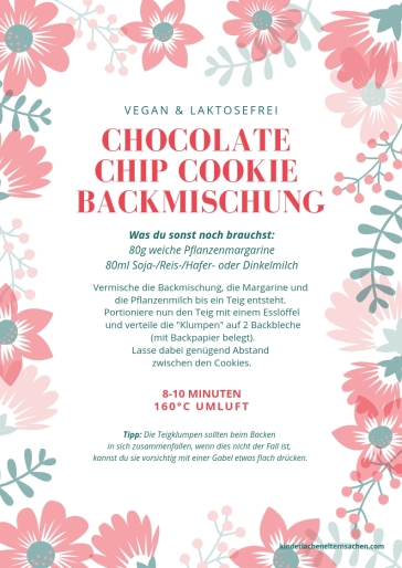 chocolate chip cookie backmischung