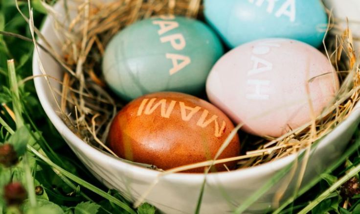 Eier mit Botschaft
